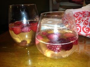 Frozen berries for ice cubes!