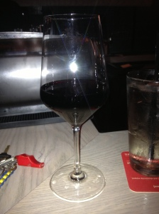 Glass of red of course!