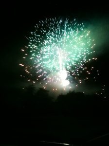 Crappy cell phone picture of fireworks!